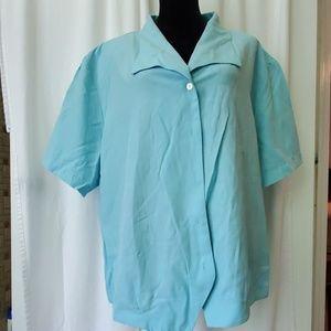 Career blouse - light blue/teal.